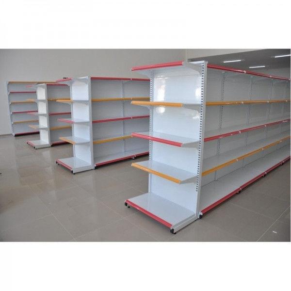 Instalações de Lojas com Gôndolas de Aço, Check-Out e Painel Canaletado